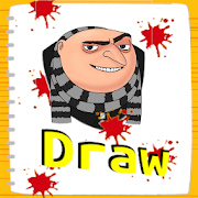 How To Drawing Cartoon Characters‏ APK