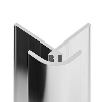 """DecoDesign - Zubehör Profil - Eckverbinder """"auf Ecke"""" - Chromoptik (41), Länge 2550 mm"""