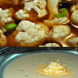 Too Much Cauliflower! Cauliflower, Leek and Cheddar Cheese Soup
