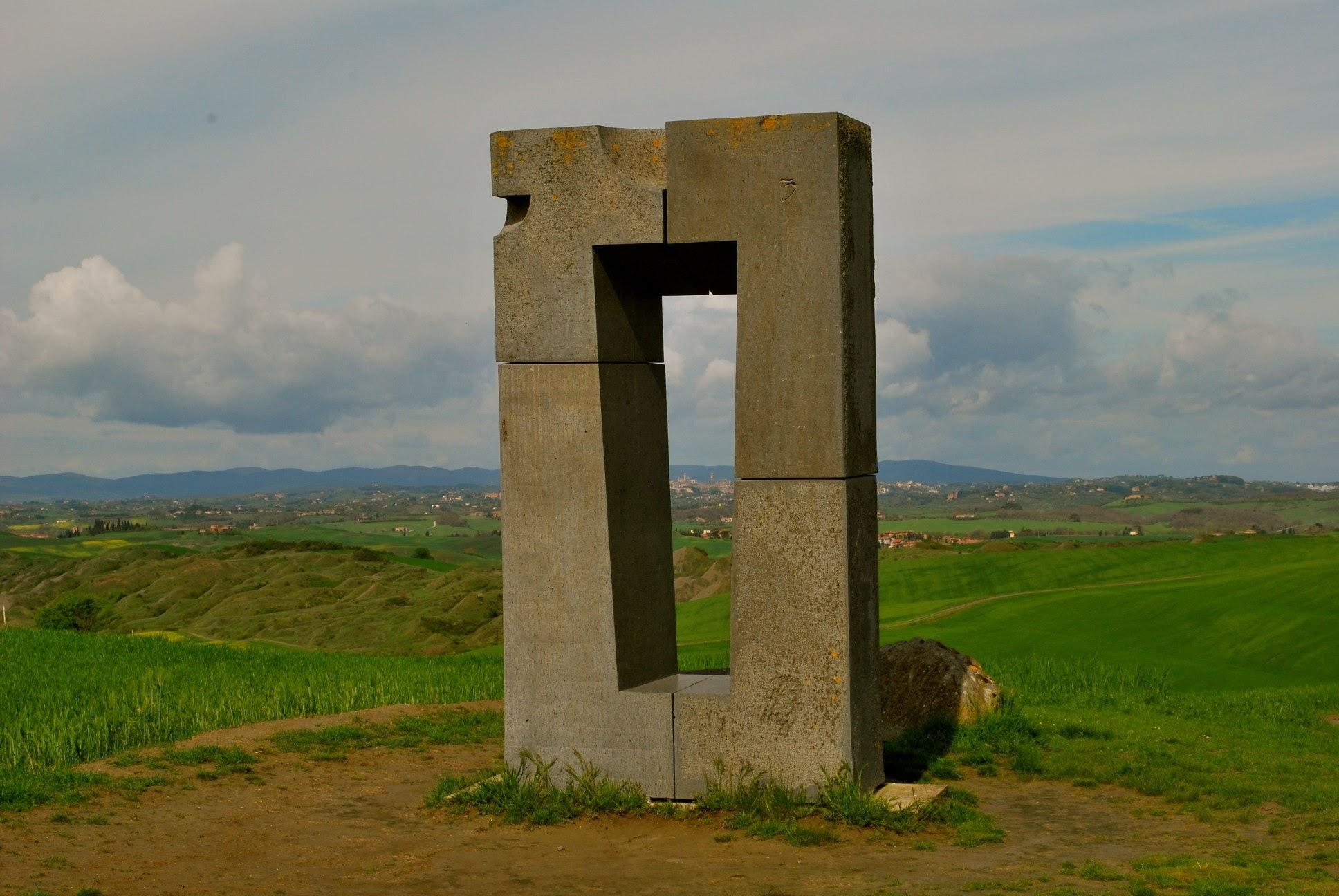 Jean Paul Philippe, Site Transitoire, 1993, posto magico nelle crete senesi, Asciano