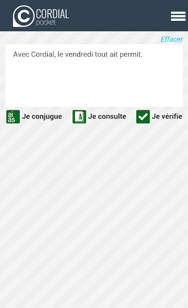 French spellchecker Android App Screenshot