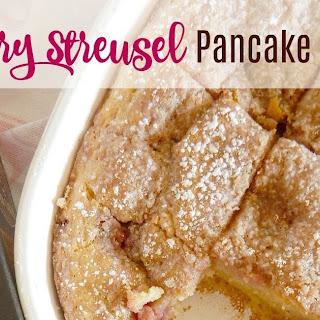 Raspberry Streusel Pancake Casserole.