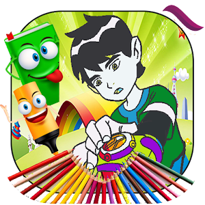 Ben 10 Cartoon Coloring Book APK Download For Android