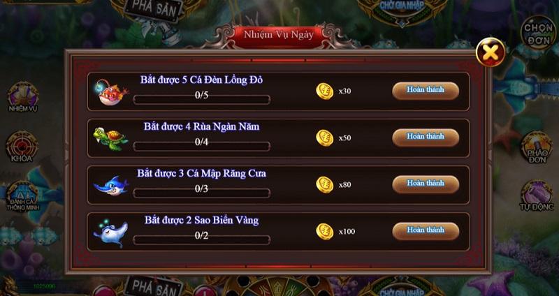 Hoàn thành các nhiệm vụ hằng ngày để có quà thưởng từ Win888