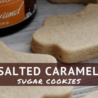 Salted Caramel Sugar Cookies.