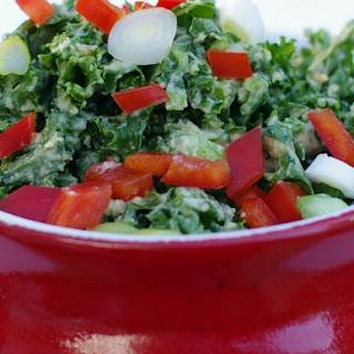 Hummus and Kale Salad