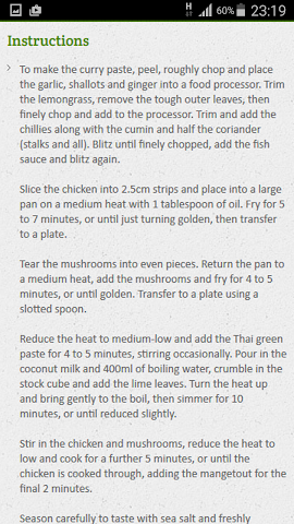 android Curry Recipe Screenshot 3