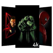 Indir Uygulama Black Walls Superheroes Wallpapers Background