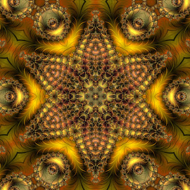 Withering of leaves by Cassy 67 - Illustration Abstract & Patterns ( digital, love, harmony, surreal, abstract art, trippy, star, mandala, autumn colors, abstract, creative, fractals, digital art, flower, psychedelic, kaleidoscope, modern, leafs, light, fractal, autumn, energy )