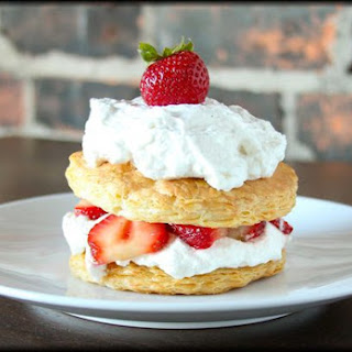 Strawberry Honey Napoleon with Cardamom Whipped Cream Recipe