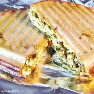 Grilled Scrambled Tofu Veggie Sandwich