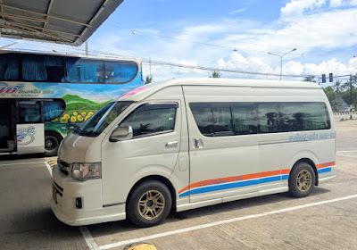 Travel from Krabi to Hat Yai by shared minivan