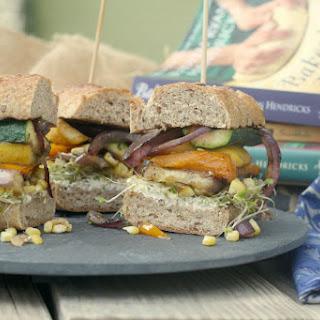 Grilled Veggie Sandwich w/ Goat Cheese (aka The Frodo)
