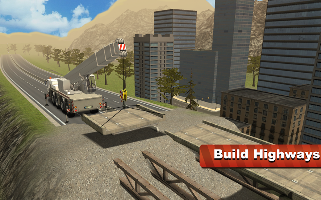 #7. Bridge Construction Crane Sim (Android)