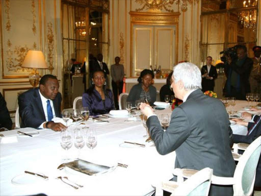 President Uhuru Kenyatta and other leaders in France where he is attending the Global Peace Forum /COURTESY