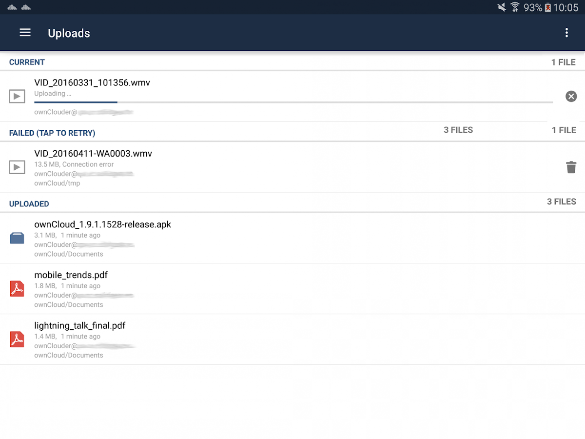 ownCloud: screenshot