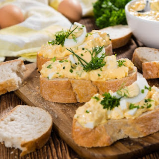 Curried Egg Sandwiches.