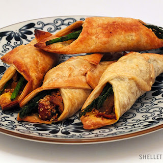 Pumpkin and Asparagus Puff Pastry Rolls