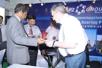 Photo: Md. Habibur Rahman Khan –Bangla Desh High Commission Commerce Minister with Mr. Vicheslove, Dir. SPZ Group, Russia in special visit to expo from New Delhi.
