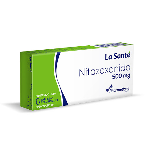 Nitazoxanida La Sante 500mg 6 Tabletas