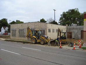 Photo: Clearing the dirt for the educational addition