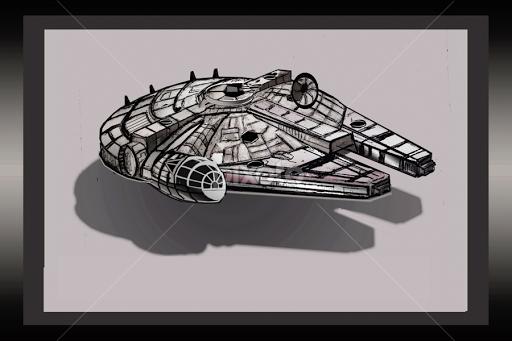 STAR WARS MILLENNIUM FALCON By Gerry Slabaugh   Drawing All Drawing ( Millennium  Falcon, Chewbacca