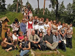 Photo: Bendra nuotrauka Opstainių II piliakalnio papėdėje.