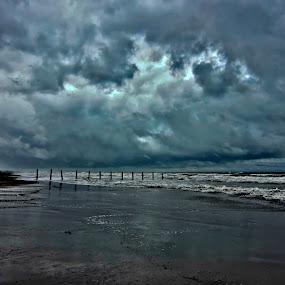 blue sea by Fereshteh Molavi - Landscapes Waterscapes ( cloud waves, beams, sea )
