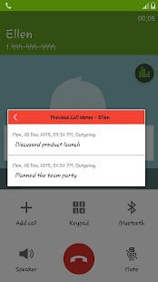 Call Notes Plus screenshot