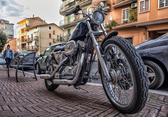 Libertà con Harley di Enrico Balla