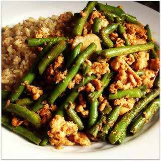 Szechuan Green Beans and Ground Turkey.