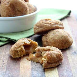 Caramel Stuffed Pumpkin Snickerdoodle Cookies Recipe