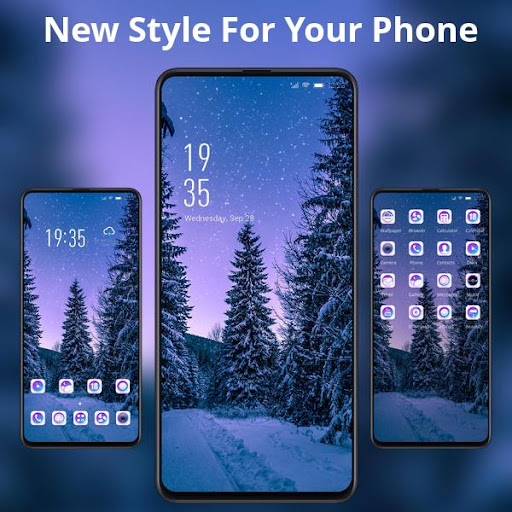 Night forest starry sky landscape theme | snow ss2