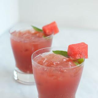 Watermelon Balsamic Basil Julep.