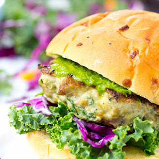 Portobello Mushroom and Kale Turkey Burgers