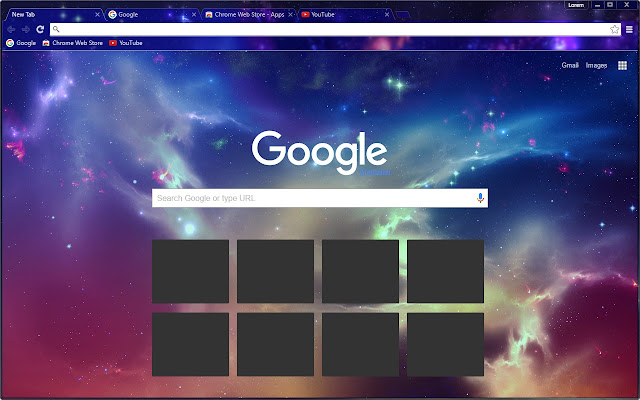 Colorful galaxy chrome web store this theme changes the appearance of chrome into a beautiful star galaxy with rich exciting colors altavistaventures Images