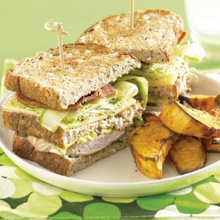 Pork Cutlet Club Sandwich.