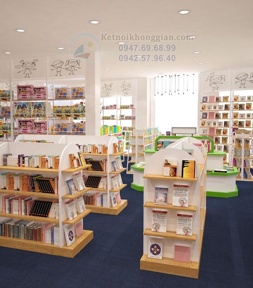 thiết kế nội thất nhà sách hợp lý