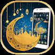 Blue Ramadan Mubarak Moon Theme icon