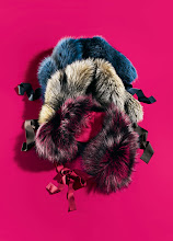Photo: ELIE TAHARI Dyed fox (Finland) fur scarf in blue, natural or red. $698. 5F. 212 872 8967