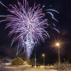 Firework by Kjersti Narmo - Public Holidays New Year's Eve ( boom, night, nightscape, fireworks, new year,  )