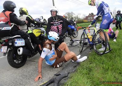 Stijn Vandenbergh twijfelachtig voor de Ronde na val in Dwars door Vlaanderen