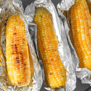 Oven-Roasted Corn on the Cob with Garlic Butter.
