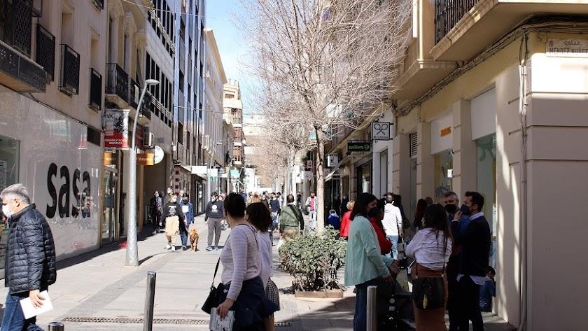 Confluencia de las calles Méndez Núñez y Reyes Católicos, el pasado sábado.