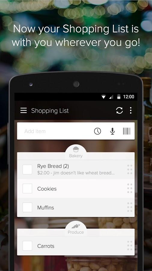 Out of Milk Shopping List- screenshot