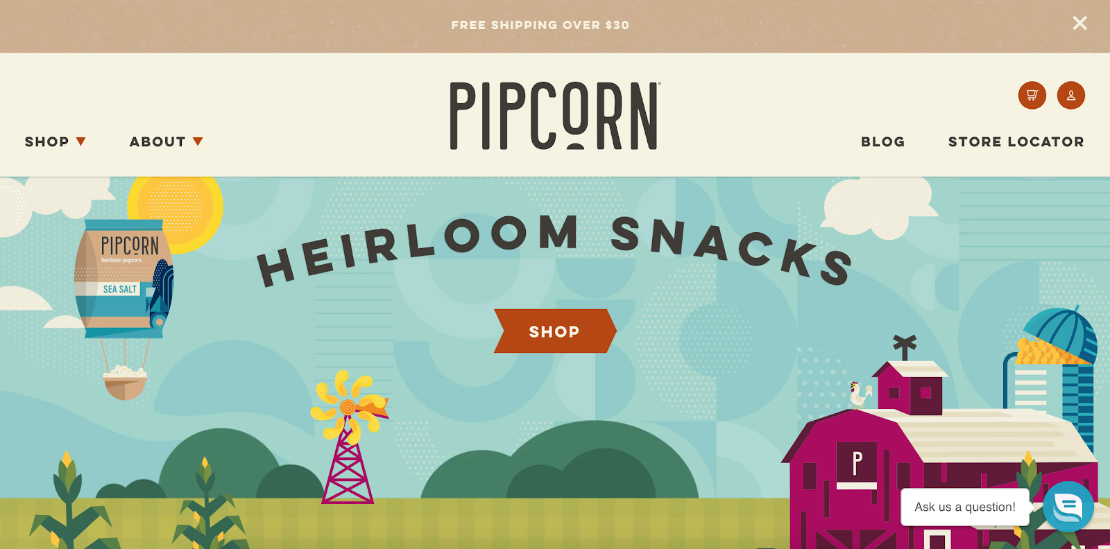 Pipcorn Shopify Store Example