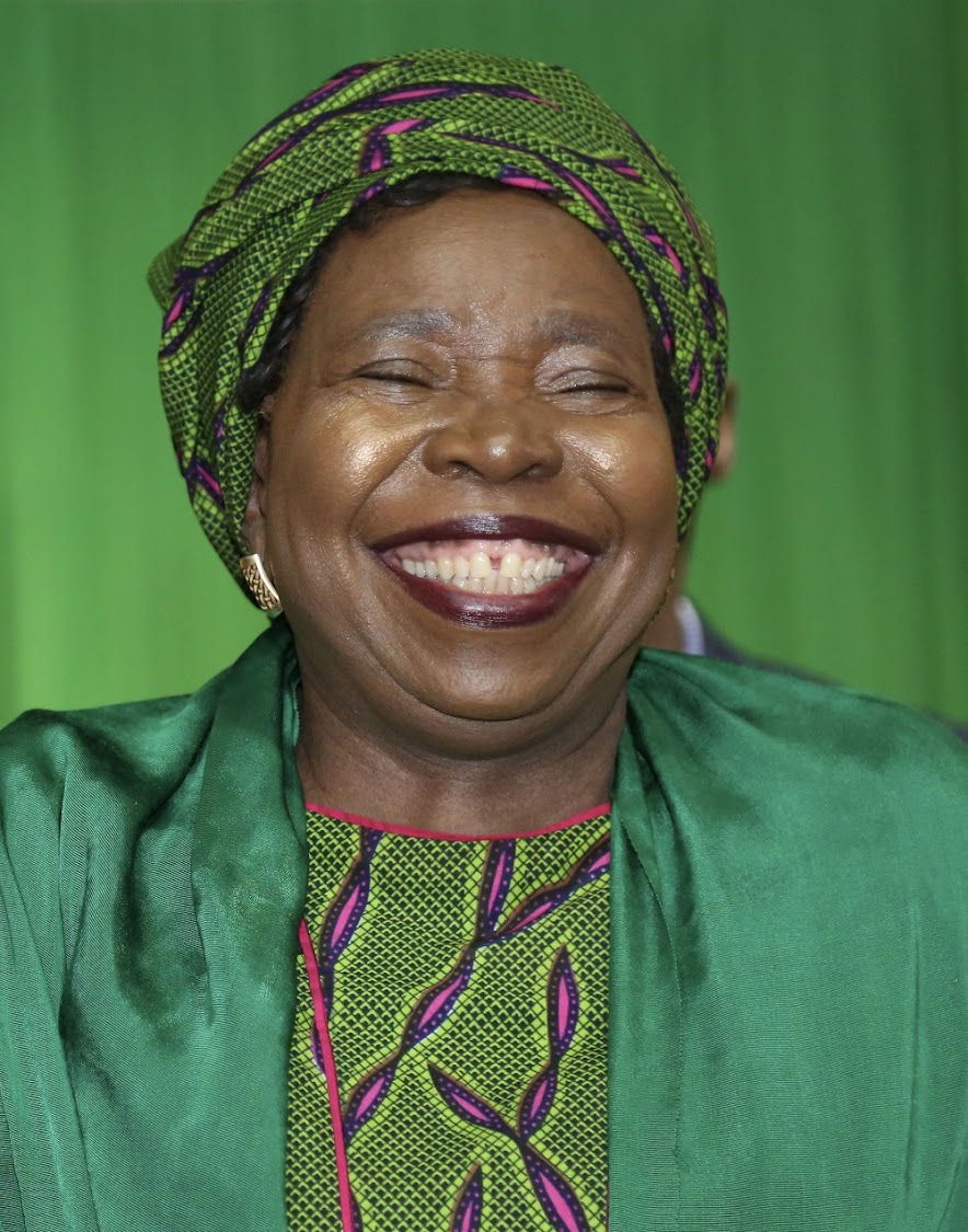 Nkosazana Dlamini Zuma was all smiles when she made a surprise visit to the ANC PGC in Durban after being nominated to be the Presidential candidate.