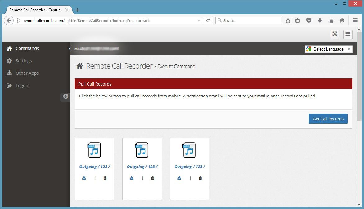 Remote Call Recorder- screenshot