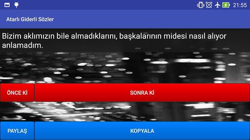 Atarlı Giderli Sözler|玩程式庫與試用程式App免費|玩APPs