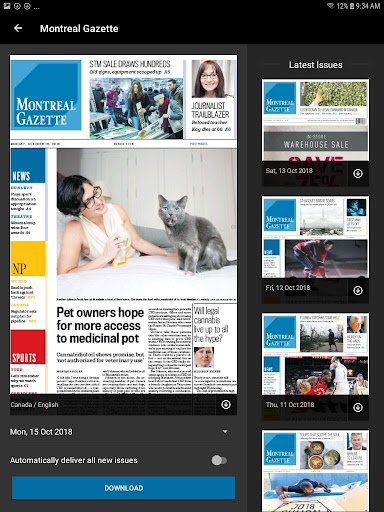 Montreal Gazette ePaper 4.7.1.17.0217 screenshots 1